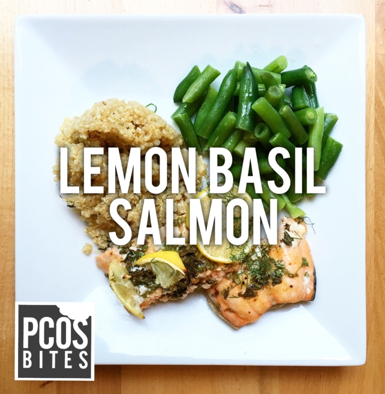Dinner: Lemon-Basil Salmon + Quinoa + Green Beans – PCOSbites