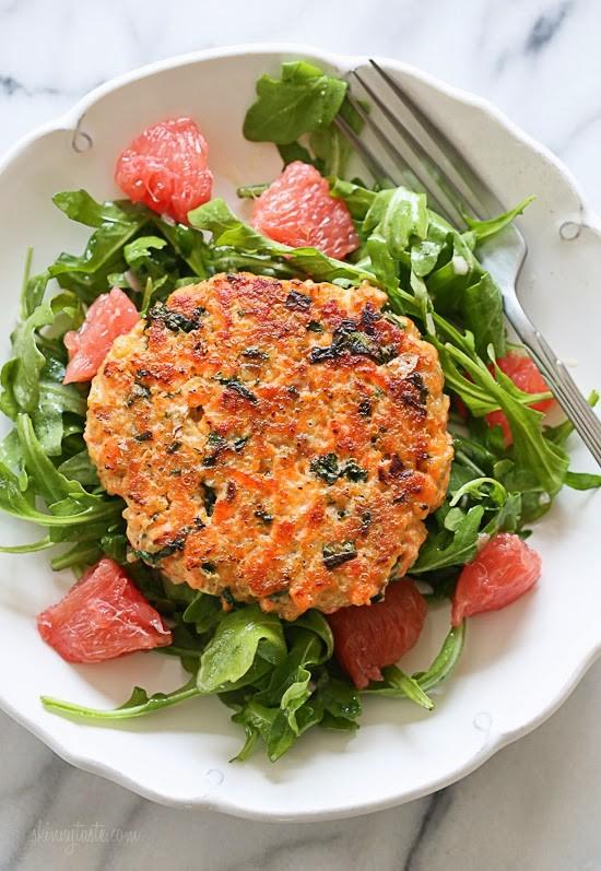 Salmon Quinoa Kale Burgers