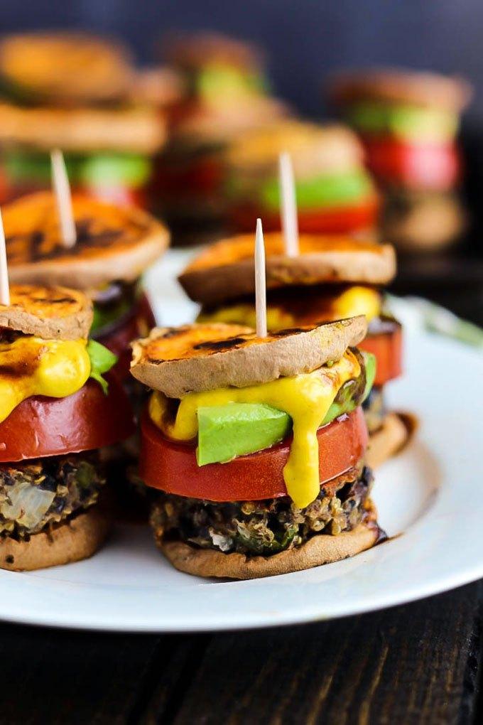 Healthy Vegan Sweet Potato Sliders