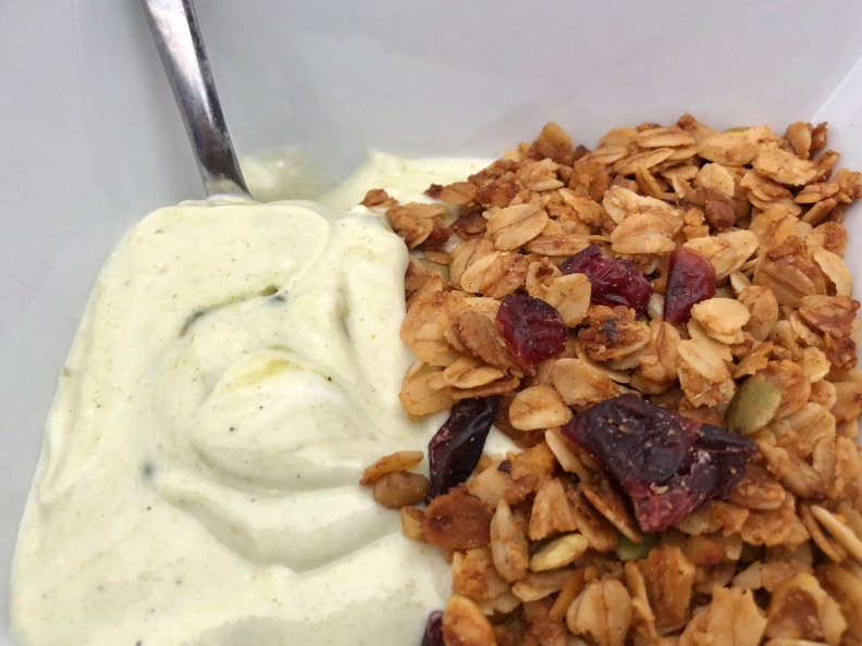 Greek Yogurt with Granola and Hemp for Low Glycemic Breakfast