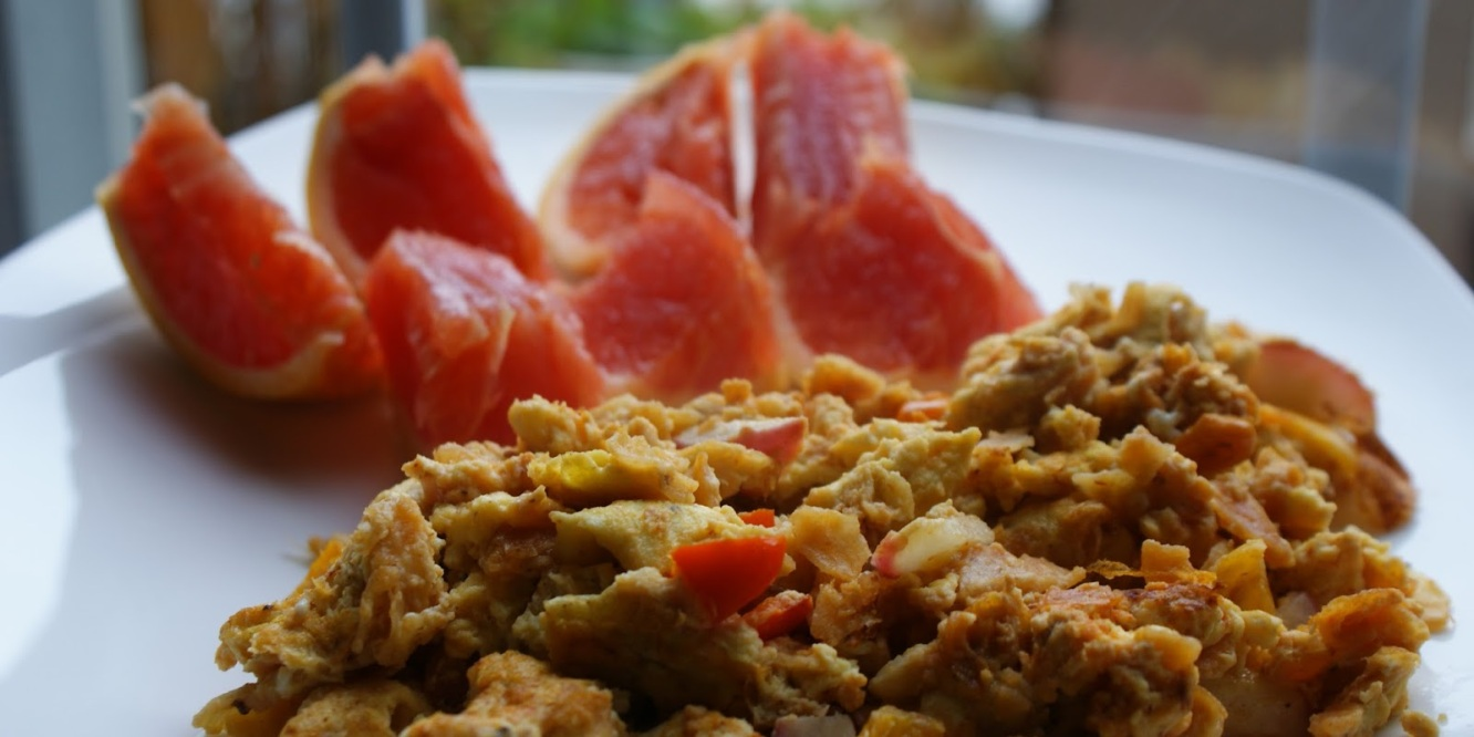 Mexican Scramble with Grapefruit on Side